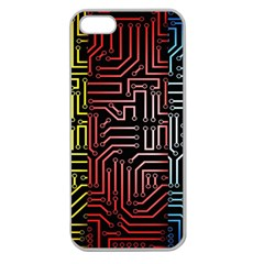 Circuit Board Seamless Patterns Set Apple Seamless iPhone 5 Case (Clear)