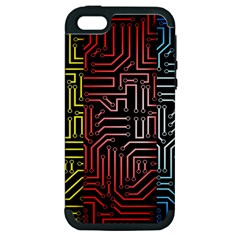 Circuit Board Seamless Patterns Set Apple Iphone 5 Hardshell Case (pc+silicone)