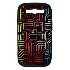 Circuit Board Seamless Patterns Set Samsung Galaxy S III Hardshell Case (PC+Silicone)