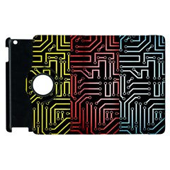 Circuit Board Seamless Patterns Set Apple iPad 2 Flip 360 Case