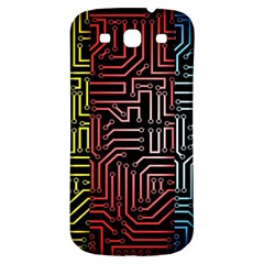 Circuit Board Seamless Patterns Set Samsung Galaxy S3 S Iii Classic Hardshell Back Case