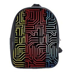 Circuit Board Seamless Patterns Set School Bags (xl)