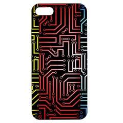 Circuit Board Seamless Patterns Set Apple Iphone 5 Hardshell Case With Stand