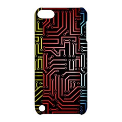 Circuit Board Seamless Patterns Set Apple Ipod Touch 5 Hardshell Case With Stand