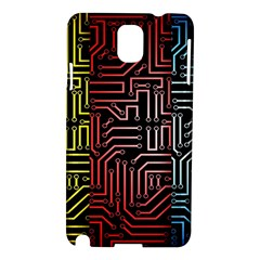 Circuit Board Seamless Patterns Set Samsung Galaxy Note 3 N9005 Hardshell Case