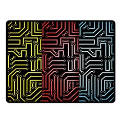 Circuit Board Seamless Patterns Set Double Sided Fleece Blanket (small)