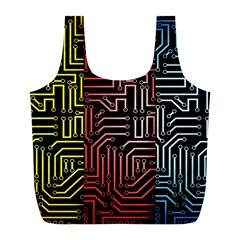 Circuit Board Seamless Patterns Set Full Print Recycle Bags (l)