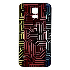 Circuit Board Seamless Patterns Set Samsung Galaxy S5 Back Case (white)
