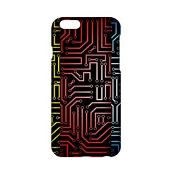Circuit Board Seamless Patterns Set Apple Iphone 6/6s Hardshell Case