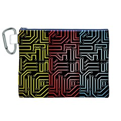 Circuit Board Seamless Patterns Set Canvas Cosmetic Bag (xl)