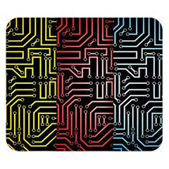 Circuit Board Seamless Patterns Set Double Sided Flano Blanket (small)