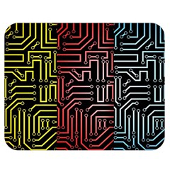 Circuit Board Seamless Patterns Set Double Sided Flano Blanket (medium)