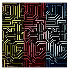 Circuit Board Seamless Patterns Set Large Satin Scarf (square)