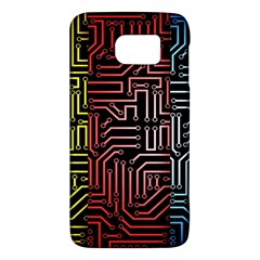 Circuit Board Seamless Patterns Set Galaxy S6