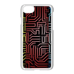 Circuit Board Seamless Patterns Set Apple Iphone 7 Seamless Case (white)