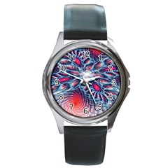 Creative Abstract Round Metal Watch