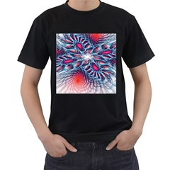 Creative Abstract Men s T-Shirt (Black) (Two Sided)