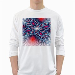 Creative Abstract White Long Sleeve T Shirts