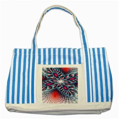 Creative Abstract Striped Blue Tote Bag