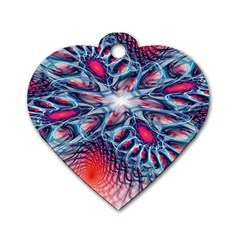 Creative Abstract Dog Tag Heart (Two Sides)