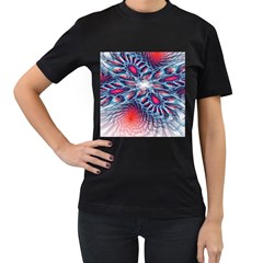 Creative Abstract Women s T Shirt (black)