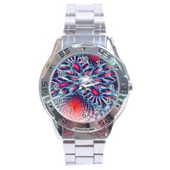 Creative Abstract Stainless Steel Analogue Watch