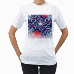Creative Abstract Women s T Shirt (white)