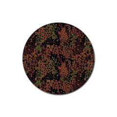 Digital Camouflage Rubber Round Coaster (4 Pack)