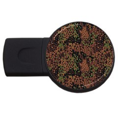 Digital Camouflage USB Flash Drive Round (1 GB)