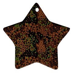 Digital Camouflage Star Ornament (two Sides)