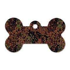 Digital Camouflage Dog Tag Bone (one Side)