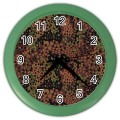 Digital Camouflage Color Wall Clocks