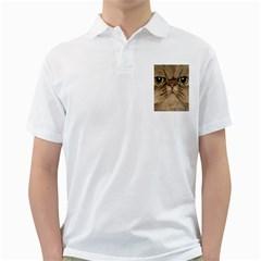 Cute Persian Cat face In Closeup Golf Shirts