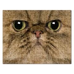 Cute Persian Cat Face In Closeup Rectangular Jigsaw Puzzl