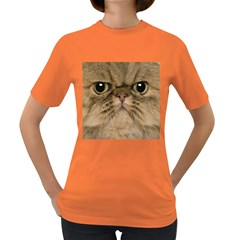 Cute Persian Cat Face In Closeup Women s Dark T Shirt