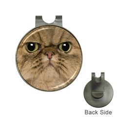 Cute Persian Cat face In Closeup Hat Clips with Golf Markers