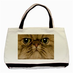 Cute Persian Cat Face In Closeup Basic Tote Bag (two Sides)