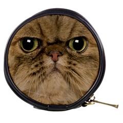 Cute Persian Cat Face In Closeup Mini Makeup Bags