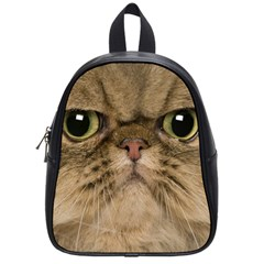 Cute Persian Cat Face In Closeup School Bags (small)
