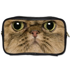Cute Persian Cat Face In Closeup Toiletries Bags 2 Side
