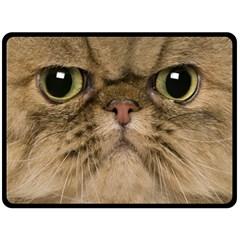 Cute Persian Cat face In Closeup Fleece Blanket (Large)