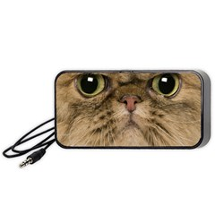 Cute Persian Cat Face In Closeup Portable Speaker (black)