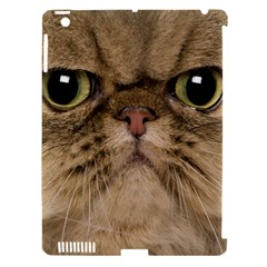 Cute Persian Cat Face In Closeup Apple Ipad 3/4 Hardshell Case (compatible With Smart Cover)