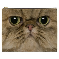 Cute Persian Cat Face In Closeup Cosmetic Bag (xxxl)