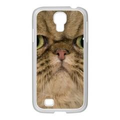 Cute Persian Cat Face In Closeup Samsung Galaxy S4 I9500/ I9505 Case (white)