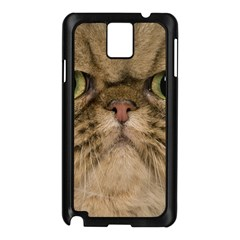 Cute Persian Cat Face In Closeup Samsung Galaxy Note 3 N9005 Case (black)