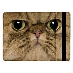 Cute Persian Cat Face In Closeup Samsung Galaxy Tab Pro 12 2  Flip Case
