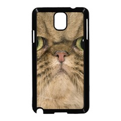 Cute Persian Cat Face In Closeup Samsung Galaxy Note 3 Neo Hardshell Case (black)