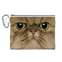 Cute Persian Cat face In Closeup Canvas Cosmetic Bag (L)