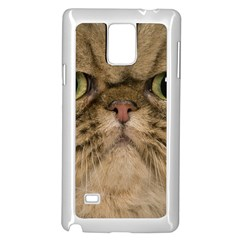 Cute Persian Cat Face In Closeup Samsung Galaxy Note 4 Case (white)
